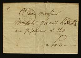 64 - Bayonne En Port Payé -  Lettre Des Douanes De Bayonne Pour Les Douanes De Paris - 1834 - 1801-1848: Voorlopers XIX