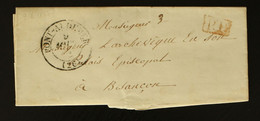 27 - Pont Audemer -  Lettre Pour L'Archevêque De Besançon En Port Payé (en Rouge) - 1834 - 1801-1848: Voorlopers XIX