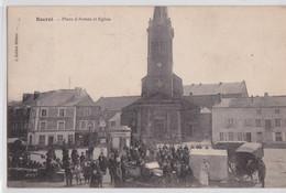 ROCROI (Ardennes) - Place D'Armes Et Eglise Automobile - Autres Communes