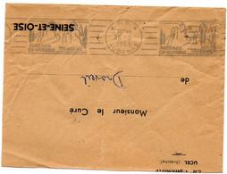 ARDECHE - Dépt N° 07 = AUBENAS 1955 = FLAMME PP RBV Illustrée CHATEAU ' En VIVARAIS ' - Mechanical Postmarks (Advertisement)