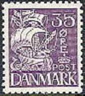 DENEMARKEN 1933-40 35õre Schip Violet PF-MNH-NEUF - Ongebruikt