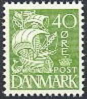 DENEMARKEN 1933-40 40õre Schip Groen PF-MNH-NEUF - Ongebruikt