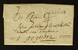 30 - Nimes -  Lettre Pour Avignon + Taxe Man 3 - 1801-1848: Voorlopers XIX