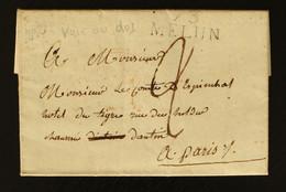 73 - Melun -  Lettre Pour Paris + Taxe Man 2 - 1814 - 1801-1848: Voorlopers XIX