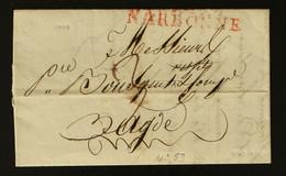 11 - Narbonne (en Rouge) -  Lettre Pour Agde + Taxe Man 3 - 1808 - 1801-1848: Voorlopers XIX