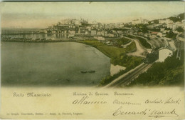 PORTO MAURIZIO ( IMPERIA ) PANORAMA - EDIZIONE GRAPH. GESELISCH - SPEDITA 1904 (7965) - Imperia