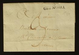 38 - Grenoble - Lettre Pour St Etienne + Taxe Man 3 - 1804 - 1801-1848: Voorlopers XIX