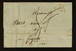 34 - Agde - Lettre Pour Figeac + Taxe Man 4 Rectifiée 5 - 1805 - 1801-1848: Voorlopers XIX