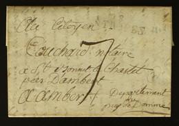 83 - St Tropez - Lettre Pour Ambert + Taxe Man 7 - 1801 - 1801-1848: Voorlopers XIX
