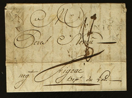 06 - Nice - Lettre Pour Figeac + Taxe Man 8 - 1805 - 1801-1848: Voorlopers XIX