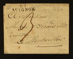 84 - Avignon - Lettre Pour Montpellier + Taxe Man 3 - 1827 - 1801-1848: Voorlopers XIX
