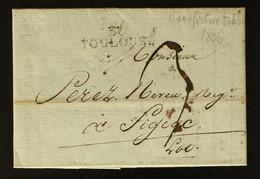 31 - Toulouse - Lettre Des Manufactures De Tabac Pour Figeac + Taxe Man 3 - 1806 - 1801-1848: Voorlopers XIX
