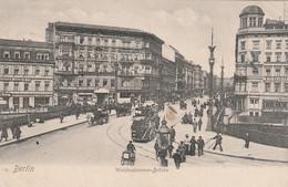 Allemagne - BERLIN - Weidendammer Brücke - Animée Tramway - Circulée Expédiée1908 - Sin Clasificación