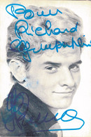 PHOTO DISQUES COLUMBIA EMI 14X9 / GERARD BRENT Avec DEDICACE - Famous People