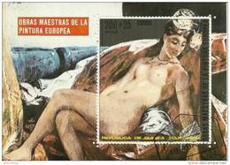 "Äquatorialguinea Block 74 (274) ""Aktgemälde Des Europäischen Malers Manet"", Gestempelt, Mi.:0,90 € - Equatorial Guinea"