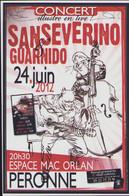 GUARNIDO : Flyer Pour Concert Avec SANSEVERINO - Advertisement