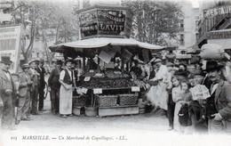 MARSEILLE  - 3 Cartes - Un Marchand De Coquillages - Une Marchande De Fleurs - Une Porteuse De Légumes - Old Professions