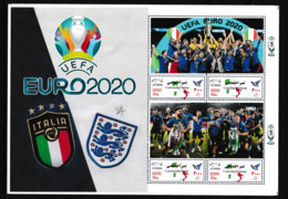 IRAN  2021   Soccer Football  EURO 2020  Italy Champion Sheetlet Perf. Rare! - Championnat D'Europe (UEFA)