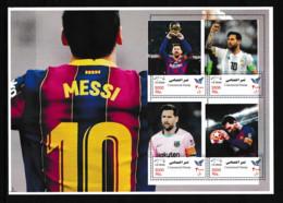 IRAN 2021  Football Soccer Famous Players, L.Messi  Sheetlet  Perf.  Rare! - Non Classés