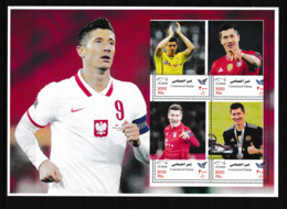 IRAN 2021  Football Soccer Famous Players, R.Lewandowski  Sheetlet  Perf.  Rare! - Non Classés