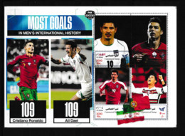 IRAN 2021  Football Soccer Famous Players, 109 Goals Record: C.Ronaldo And A.Daei  Sheetlet  Perf.  Rare! - Non Classés