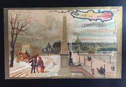 Chocolat Gourmets Trebucien Monument Paris Chromo Didactique Place Concorde Obélisque Egypte - Aiguebelle