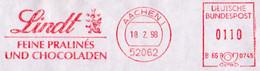 Germany Aachen Lindt Sprüngli Meter Mark 1999 Schokolade Pralinen Drachen Lindwurm - Food