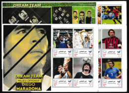 IRAN   2021 Soccer Football Dream Team Most Famous Players Of All Times 12 Sheetlets Perf. Rare! - Non Classés