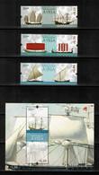 Portugal 2018 Navegacao A Vela - MNH 3 Stamps + Sheet - Ships Bateaux Velero Boat Sailing MF #5045-7 + #607 Block - Hojas Bloque