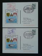 Entier Postal Stationery Card (x2) Vol Flight Dresden Hamburg Hydravion Seaplane 1995 Germany Ref 99598 - Privatpostkarten - Gebraucht