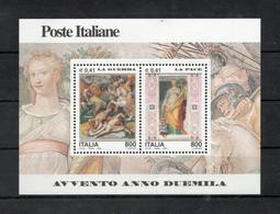 Italia - 2000 - Foglietto Avvento Anno 2000 - La Guerra E La Pace - Nuovo ** - (FDC32072) - Blocks & Sheetlets