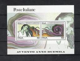Italia - 2000 - Foglietto Avvento Anno 2000 - La Meditazione E L'Espressione - Nuovo ** - (FDC32073) - Blocks & Sheetlets