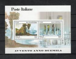 Italia - 2000 - Foglietto Avvento Anno 2000 - La Natura E La Città - Nuovo ** - (FDC32074) - Blocks & Sheetlets