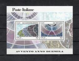 Italia - 2000 - Foglietto Avvento Anno 2000 - Le Generazioni E Lo Spazio - Nuovo ** - (FDC32075) - Blocks & Sheetlets