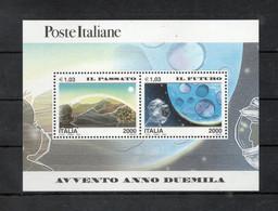 Italia - 2000 - Foglietto Avvento Anno 2000 - Il Passato E Il Futuro - Nuovo ** - (FDC32076) - Blocks & Sheetlets