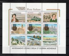 Italia - 1995 - Foglietto Avvenimenti Storici Della 2^ Guerra Mondiale - 9 Valori - Nuovi ** - (FDC32079) - Blocks & Sheetlets