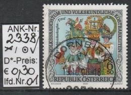 """2000 - ÖSTERREICH - SM """"Volksbrauchtum ...Schleicherlaufen, Telfs"""" O  Gestempelt  -  S: Scan (2338o 01-06,08-14   At) - 1991-00 Usados"""