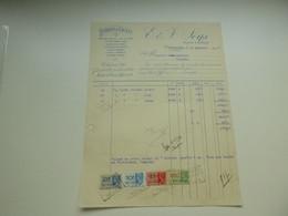Document ( 689 )   Factuur   Facture  -  V. Leys   Ypres   Ieper - Textile & Clothing