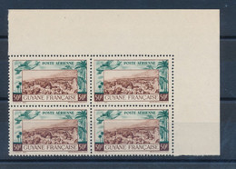 GUYANE FRANCAISE - POSTE AERIENNE N° 21 EN BLOC DE 4 NEUF** SANS CHARNIERE - 1942 - Nuovi