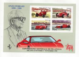 ITALIA - 1998 - Foglietto Esposizione Mondiale Di Filatelia Italia 98 - Giornata Della Ferrari - Nuovo **- (FDC32082) - Blocks & Sheetlets