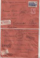 FRANCE : 3 LETTRES . REC . DONT 1 CHARGE . PAR EXPRESS . 1934/39 . - Briefe U. Dokumente