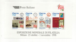 ITALIA - 1997 - Foglietto Esposizione Mondiale Di Filatelia Italia 98 - Nuovo **- (FDC32083) - Blocks & Sheetlets