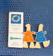 2004 Athens Olympics, Cosmote Sponsor, Phevos And Athena Mascots Pin - Jeux Olympiques