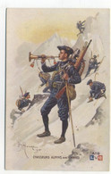 ILLUSTRATEUR - Léon HINGRE 1915 - CHASSEURS ALPINS Avec CANNES - L.V.Cie - Andere Illustrators