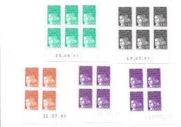 COIN DATE N° 3086-3089 - 1990-1999