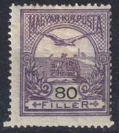 TURUL Crown MNH Hungary 1916 - WMK Watermark VII. 7. - 80 Fill - MH LOT - Neufs