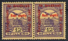 TURUL Crown MNH Hungary 1915 - WMK Watermark VII. 7. - 12 Fill - MNH - WAR Aid Charity OVERPRINT Orphan Widow - Neufs