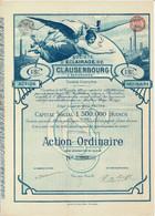 Titre Ancien - Société D'Eclairage De Clausenbourg Et Extensions - Société Anonyme - Roumanie - Titre De 1896 - Déco - - Elettricità & Gas