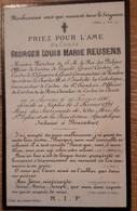 DOODSPRENTJE GEORGES LOUIS MARIE REUSENS, MINISTER PRESIDENT, ANTWXERPEN 1840 - NAPELS 1891, BEGRAVEN BRASSCHAAT - Images Religieuses