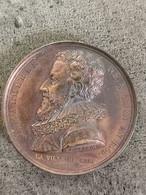Médaille Bronze ENFIN MALHERBE VINT / Ville De CAEN 1815 40 MM 37,9 G - Royal / Of Nobility